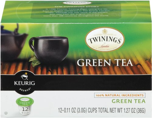Twinings Of London K-Cup Portion Pack For Keurig K-Cup Brewers Green Tea, 72 Count (Pack Of 6)