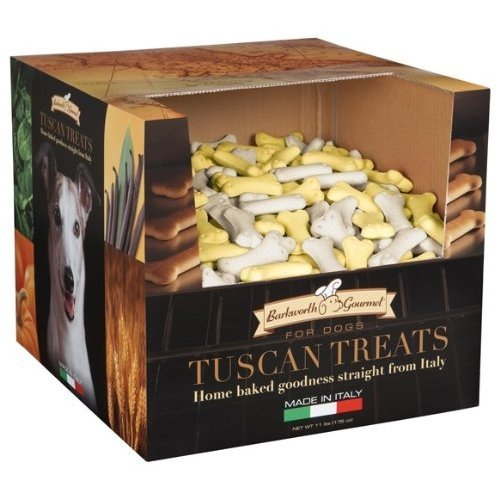 Barkworth Gourmet Tuscan Dog Treats, 11-Pound Box, Small Bone-Ninis