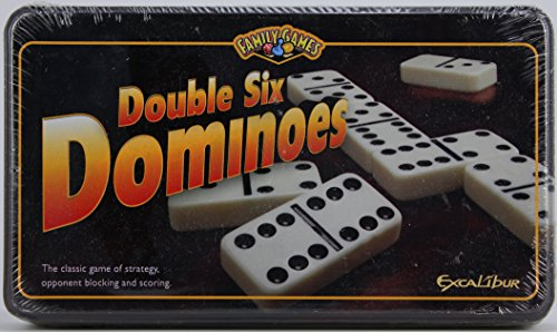 Excalibur Family Games Double Six Dominoes