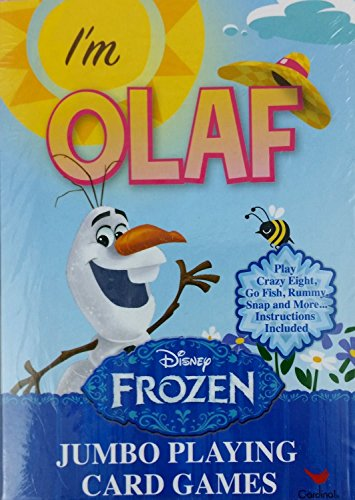 Disneys Frozen Im Olaf Jumbo Playing Cards with Instructions for Multiple Games (Crazy 8s, Go Fish, Rummy, Snap and More).