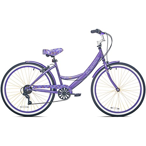 26 Inch 7 Speed Aluminum Frame Front & Rear Brake Kent Adult Cruiser Bike for Women with Fenders