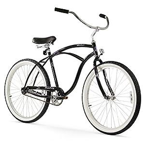 Firmstrong Urban Man Single Speed Beach Cruiser Bicycle, 26-Inch, Black