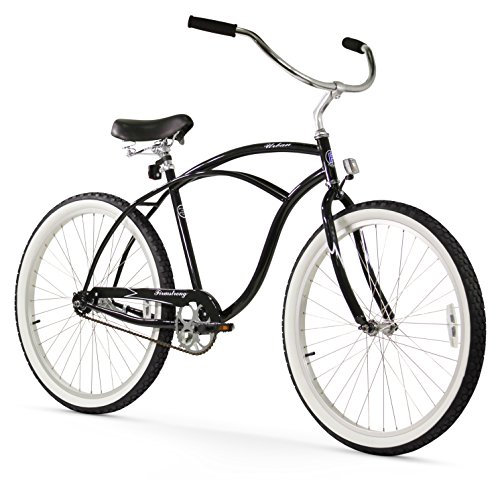 Firmstrong Urban Man Single Speed Beach Cruiser Bicycle, 26-Inch, Black