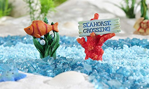Giftcraft 2 Pc Beach Fairy Garden Fish And Coral Figurines From Under The  Sea Collection