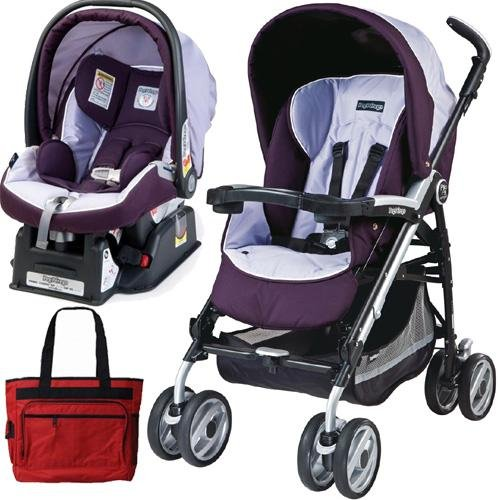 Peg Perego 2011 Pliko P3 Travel System With A Diaper Bag