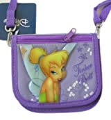 Disney Fairy Stories Tinkerbell Wallet Purse W/ Strap - Purple