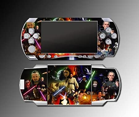 Star Wars Jedi Obi-Wan Luke Sith Decal Cover SKIN #2 for Sony PSP 1000 Playstation Portable