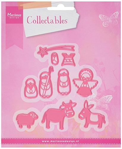 """Marianne Design """"Set de Belén coleccionable, Metal, Color Rosa"""