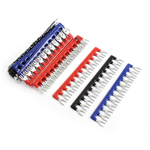15 Pcs Fork Type 12 Postions Terminal Strip Jumper 400V 10A (12 Position Terminal Strip compare prices)