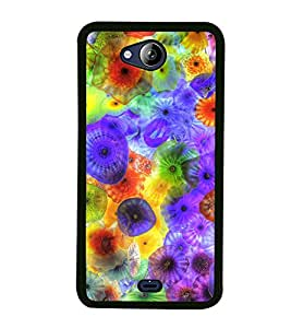 Colourful Jelly Fish 2D Hard Polycarbonate Designer Back Case Cover for Micromax Canvas Play Q355