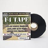 "F4 Tape - Self-Fusing Silicone Tape MIL-SPEC 1"" X 36' (Black)"
