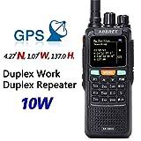 ABBREE AR-889G GPS SOS 10W 999CH Night Backlight Duplex Repeater Dual Band Dual Receiving Hunting Ham Radio 2 Way Radio