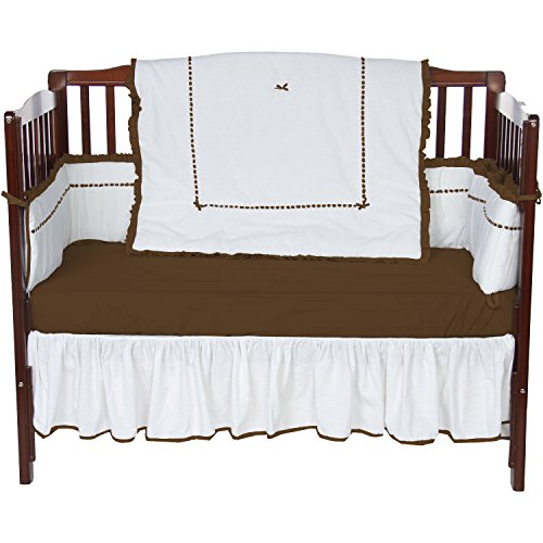 Baby Doll Unique Style Crib Bedding Set, Chocolate