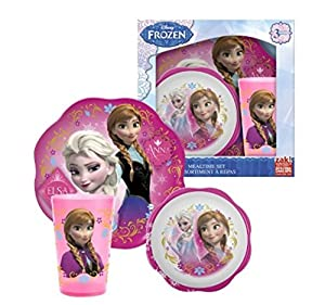 Disney Frozen Mealtime Set With Plastic Plate/Bowl and Cup by Disney
