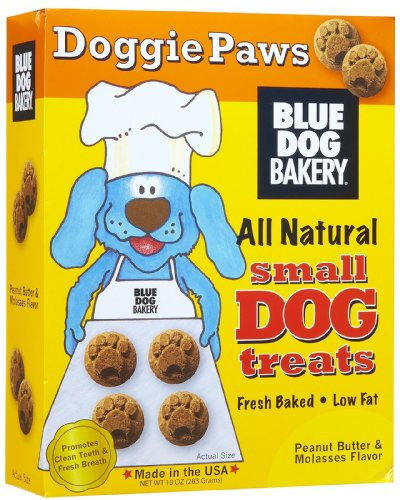Blue Dog Bakery Peanut Butter Doggie Paws All Natural Dog Treats
