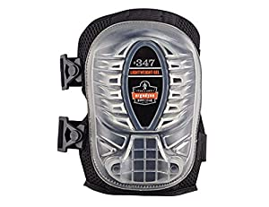 ProFlex 347 Long Cap Lightweight Gel Knee Pad, Black (2 pads per pack)
