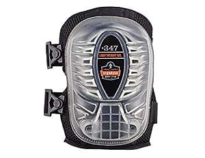Ergodyne ProFlex 347 Long Cap Lightweight Gel Knee Pad, Black (2 pads per pack)