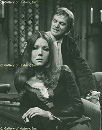 ABELARD AND HELOISE CAST - PHOTOGRAPH SIGNED CO-SIGNED BY: DIANA RIGG, KEITH MICHELL