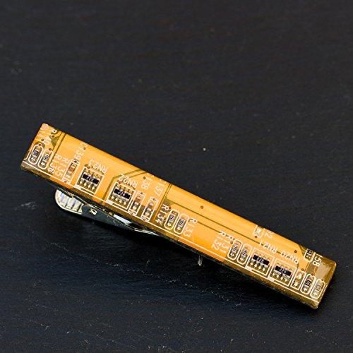 Circuit board tie clip - yellow