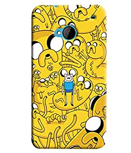 Blue Throat Yellow Cartoon Hard Plastic Printed Back Cover/Case For HTC One M7