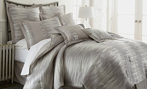 Serta 8 Piece Jacquard Comforter Set - Morning Mist Queen front-472418