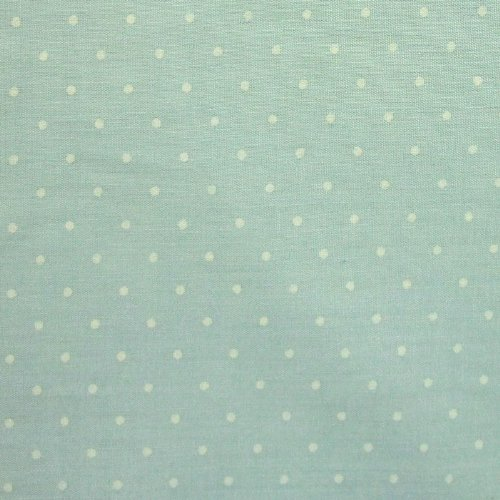 pastel-mint-green-polycotton-fabric-with-white-polka-dots-per-metre