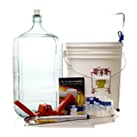 Gold Complete Beer Equipment Kit (K6) with 6 Gallon Glass Carboy by Monster Brew Home Brewing Supplies