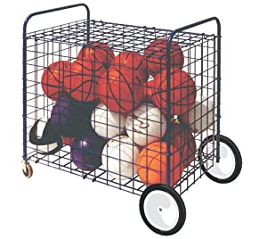 Champion Sports Lockable Ball Storage Locker With Terrain Wheels (36 Inch x 24 Inch x... by Champion Sports