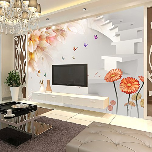 gs ly warmen blumen selbst klebende 3d tv hintergrund wand nahtlose vliestapete preise pro. Black Bedroom Furniture Sets. Home Design Ideas