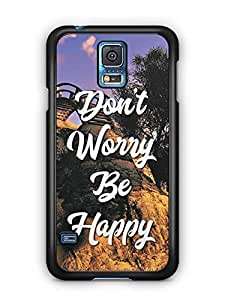 YuBingo Don't Worry. Be Happy Designer Mobile Case Back Cover for Samsung Galaxy S5