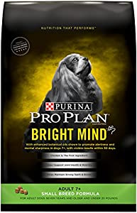Purina Pro Plan Dry Dog Food, Bright Mind, Adult 7+ Small Breed Formula, 5-Pound Bag, Pack of 1