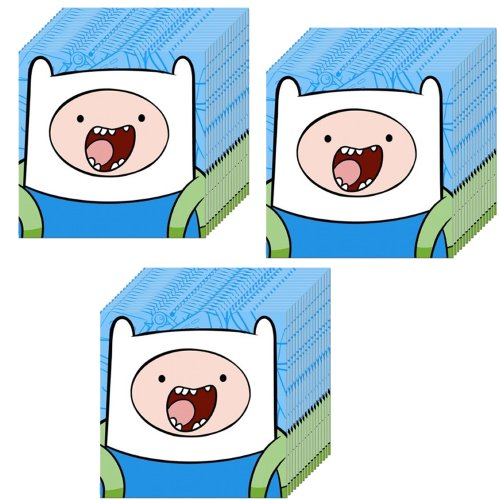 Adventure Time Party Beverage Napkins, 16 Pieces x 3 Pack(Total 48 Pieces )