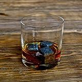 Gift Bundle - Whiskey Stones & Glasses Best Valentine Gift Set For Him - 9 Whisky Chilling Cubes & 2 Regency Rocks Glasses