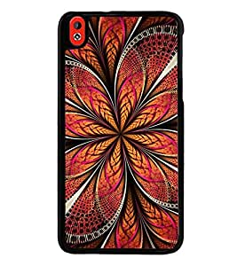 Fuson Premium 2D Back Case Cover Animated Floral pattern With yellow Background Degined For HTC Desire 826::HTC Desire 826 Dual