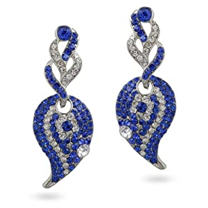 Aditri Women Girls Earrings D 142 Silver Blue