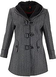 Panache Women's Slim Fit Coat (M002 _ Medium, Grey)