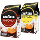 Lavazza Coffeepads Sinfonia Set, Espresso & Espresso Intenso, 32 Coffee Pods