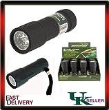 Superbright 9 LED Mini Rubberised Flashlight Torch