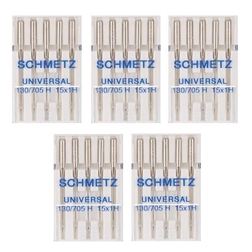 25 Schmetz Universal Sewing Machine Needles 130/705H 15x1H Size 80/12 (Necchi Sewing Machine Needles compare prices)