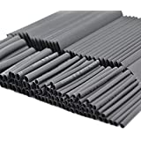 SOLOOP 127pc Black Heat Shrink Tube Assorted Cable Wire Wrap Electric Insulation Sleeve