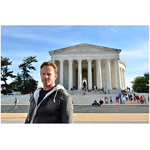 Sharknado 3 with Ian Ziering as Fin Shepard in Front of Lincoln Memorial 8 x 10 Inch Photo (Sharknado Fin)