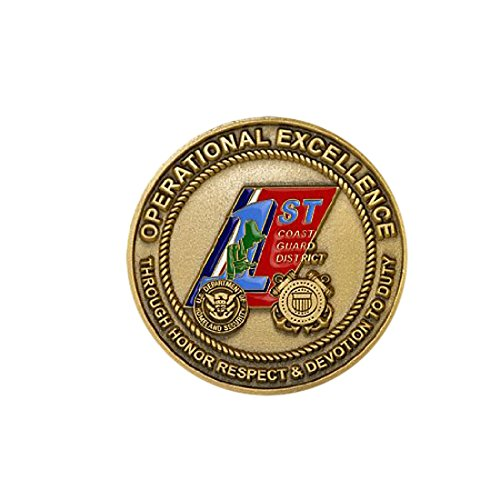Northwest Territorial Mint Uscg 1st District Challenge Coin