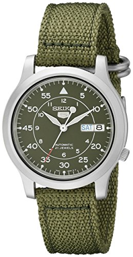 seiko-5-mens-automatic-watch-with-green-dial-analogue-display-and-green-fabric-strap-snk805k2