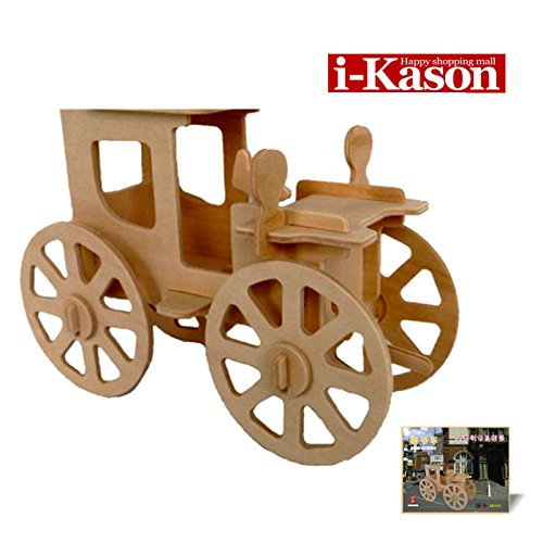 Authentic High Quality i-Kason® New Favorable Imaginative DIY 3D Simulation Model Wooden Puzzle Kit for Children and Adults Artistic Wooden Toys for Children - Small Vintage Car