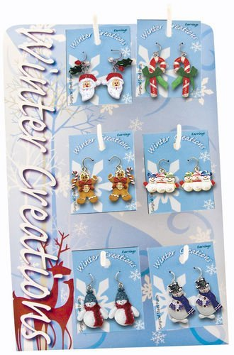 Winter Creations Holiday Earrings - Great Stocking Stuffer! Set of 2 - 1