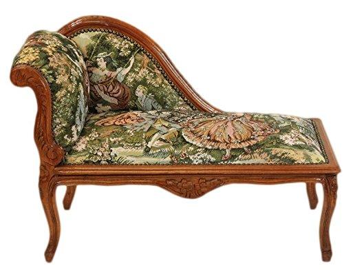 Casa Padrino Barock Kinder Chaiselongue Mod2 Gobelin / Braun – Antik Stil günstig bestellen