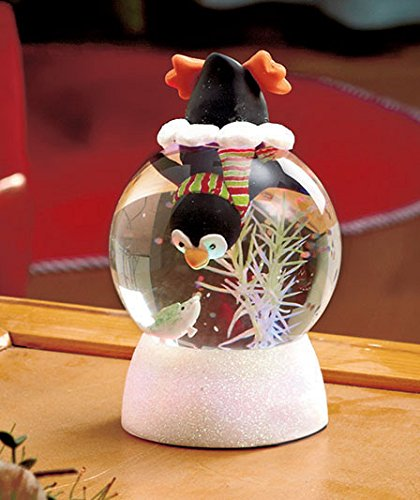 Cute Seasonal Color-changing Lighted Snow Globes-penguin