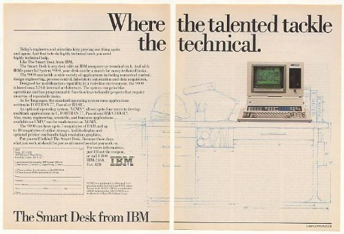 Picture of Comfortable 1984 IBM System 9000 Computer Smart Desk 2-Page Print Ad (B001KP4JE2) (Computer Desks)