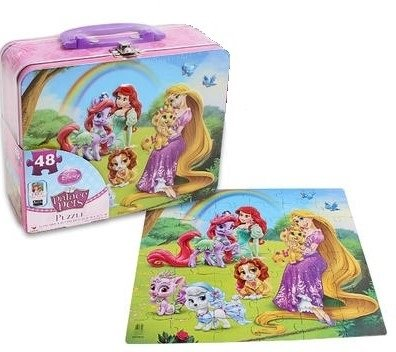 Disney Palace Pets 48 Piece Puzzle in Lunchbox Tin - 1