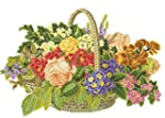 Cross Stitch Kit Flower Basket 14 Cou...